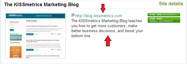 KISSMetrics Technorati co-occurences