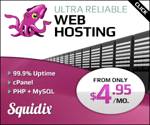 squidix ultra reliable web hosting